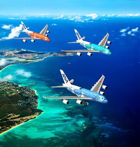 ANA、ハワイ路線は520席 A380のデザイン発表