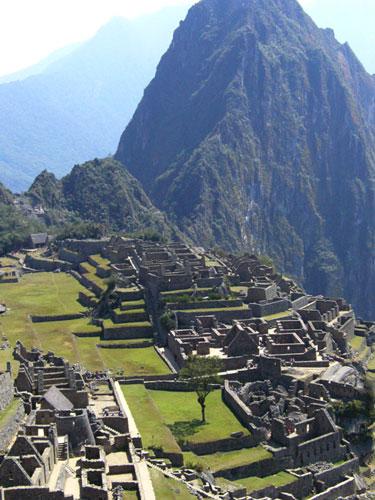 写真:ペルーの世界遺産マチュピチュ