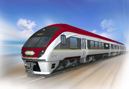 図:日本車両製造が開発した米国向けディーゼル列車のイメージ図=同社提供