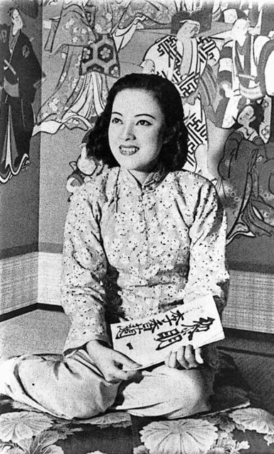 戦時下の国策劇「黎明曙光(れいめいしょこう)」に出演したころの山口淑子さ... (惜別)女優・元