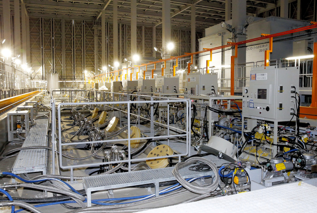全3系統が今月に試験運転となった増設分の多核種除去設備ALPS=東京電力福島第一原発