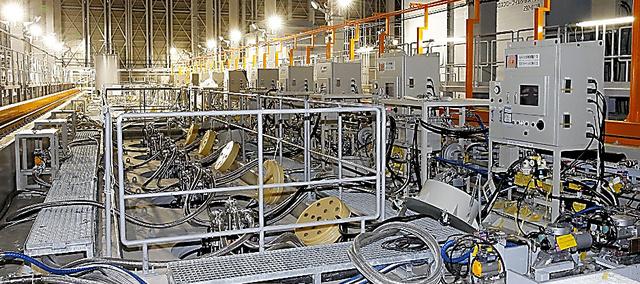 今月に試験運転となった増設分の多核種除去設備ALPS