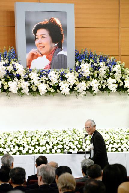 土井たか子さんにお別れの言葉を述べる村山富市元首相=25日午後、東京都千代田区、井手さゆり撮影