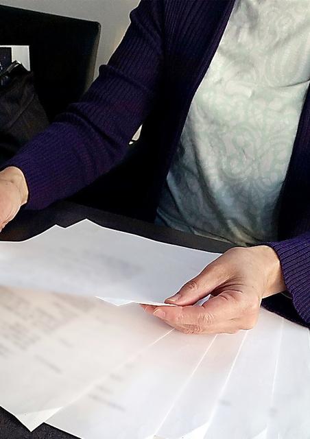 首都圏に住む女性は、おばの相続をめぐる経緯をA4用紙14枚にまとめていた