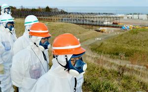 原子力規制委の委員長、汚染水放出に言及 福島第一視察