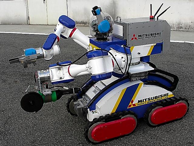福島第一原発に投入されたロボット「マイスター」=三菱重工業提供