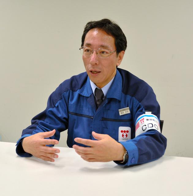 インタビューに答える増田尚宏氏=福島市