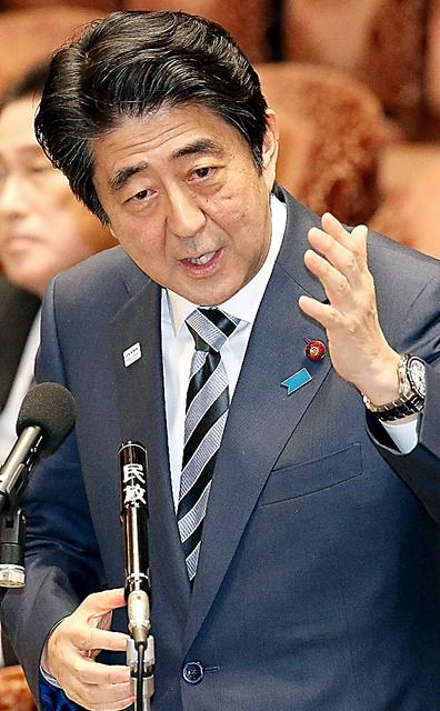 衆院予算委で質問に答える安倍晋三首相=3日、飯塚晋一撮影