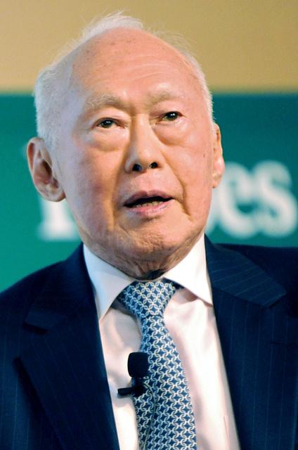 リー・クアンユー氏。2008年9月撮影=AFP時事