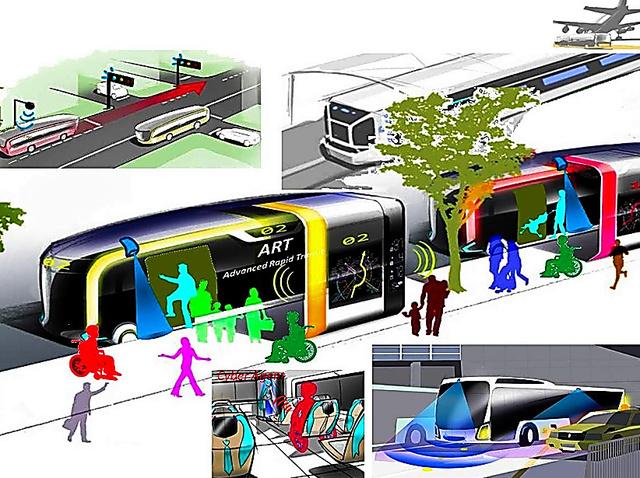 次世代都市交通システムのイメージ図=内閣府の資料から