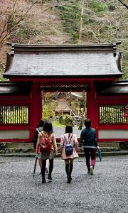 貴船神社の本宮だった「奥宮」。女性の参拝客が多い=京都市左京区鞍馬貴船町