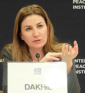 ヤジディ教徒への性暴力を訴えるビアン・ダヒルさん