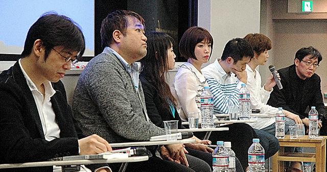 「早稲田文学」の7人の編集委員=東京・新宿