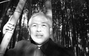戦後60年を迎えるとき、長田弘さんは、「いまためされているのは、何をなすべきかでなく、何をなすべきでないかを言いうる、言葉の力です」と考えていた=2004年、東京都内