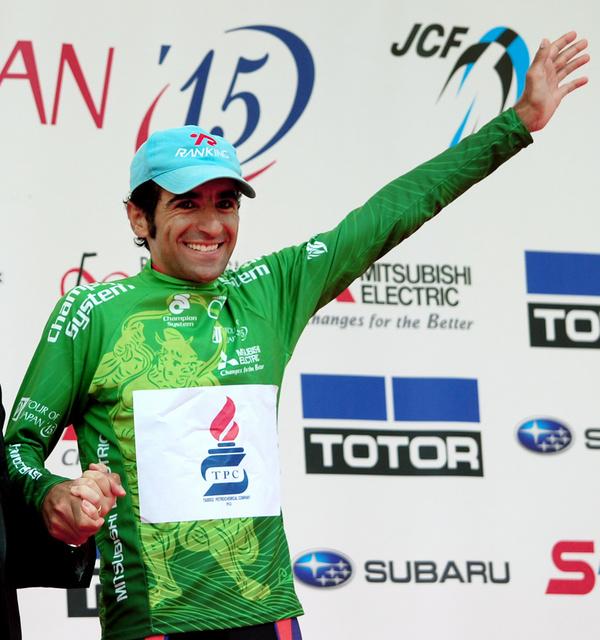 自転車の 朝日自転車 : 個人総合優勝者に贈られる緑の ...