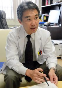 滋賀医科大学の一杉正仁教授=大津市瀬田月輪町の滋賀医科大学