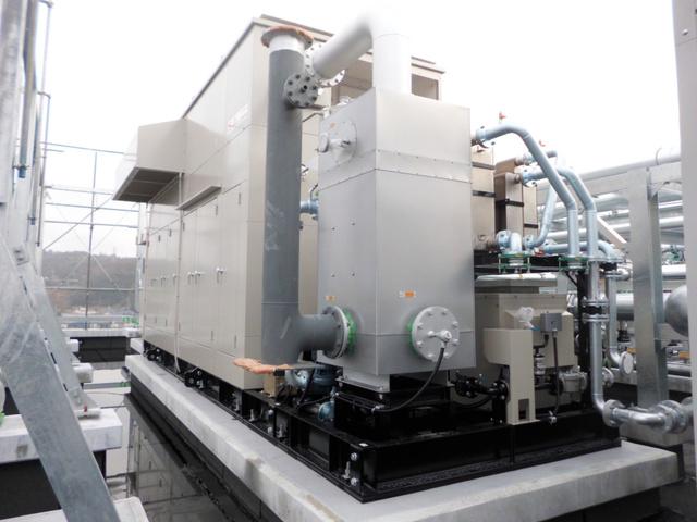 生駒市立病院のガスコージェネレーションの設備=市提供
