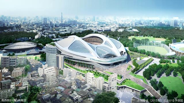 実施設計(2015年7月)のイメージ図=日本スポーツ振興センター提供