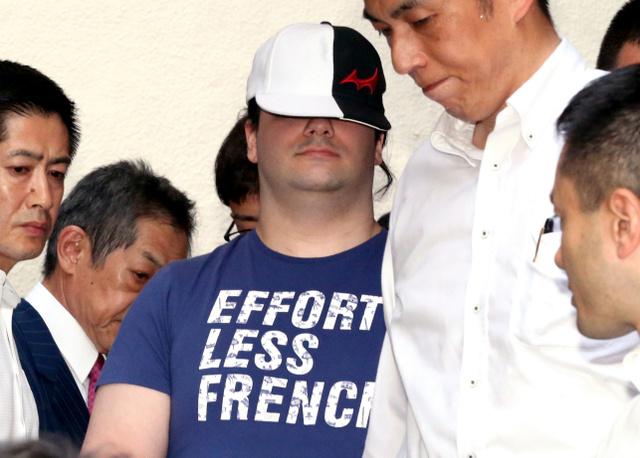 逮捕されたマウント・ゴックス最高経営責任者のマルク・カルプレス容疑者=1日午前6時40分、東京都豊島区、長島一浩撮影