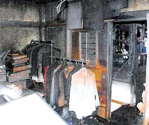 火災後の夫婦宅の一室=妻の代理人弁護士提供