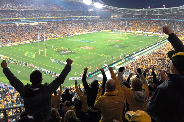 シドニーで行われたブレディスロー杯の第1戦。オーストラリア代表が勝った瞬間
