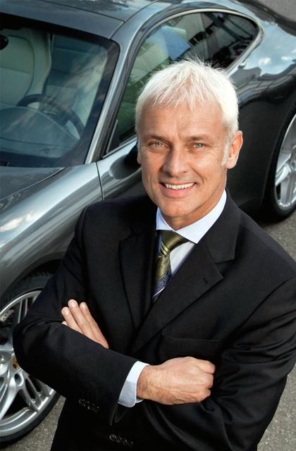 フォルクスワーゲン最高経営責任者(CEO)に就任するポルシェ社長のマティアス・ミュラー氏