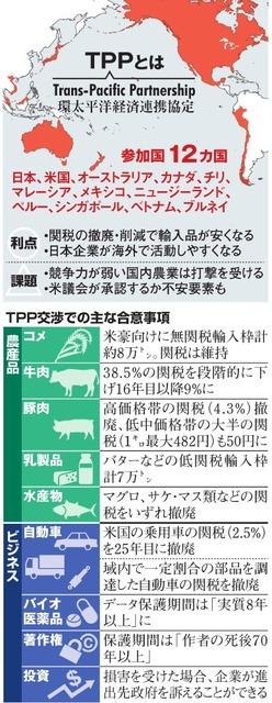 TPPとは/TPP交渉での主な合意事項