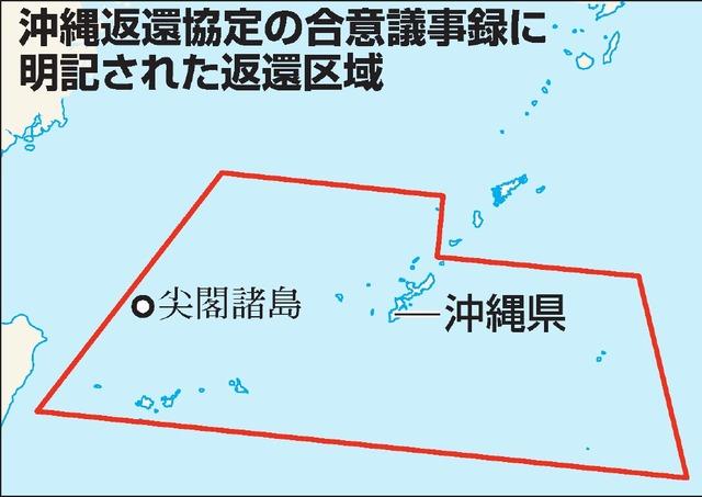 沖縄返還協定の合意議事録に明記された返還区域