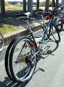 自転車の 朝日自転車 : 2人乗り用自転車、公道快走 ...
