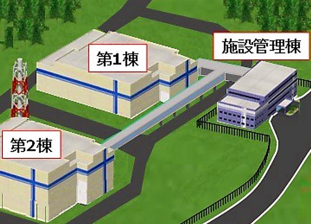 大熊分析・研究センター完成予想図。第2棟で核燃料デブリを扱う=JAEA提供