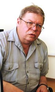 マヤークの科学環境技術次長、ユーリー・モクロフ氏=副島英樹撮影