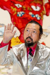 インタビューに答える村上隆氏=10月30日、東京・六本木、鬼室黎撮影