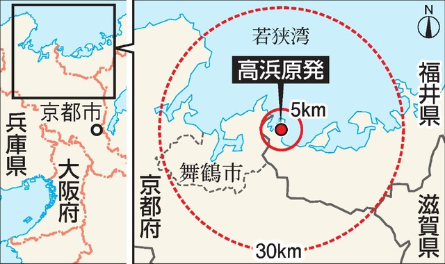高浜原発の地図