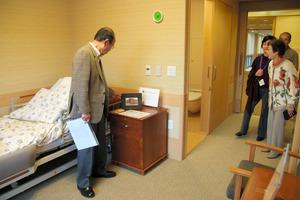 有料老人ホームの居室。安心のすみかを手にいれるには情報収集を=松沢竜一撮影