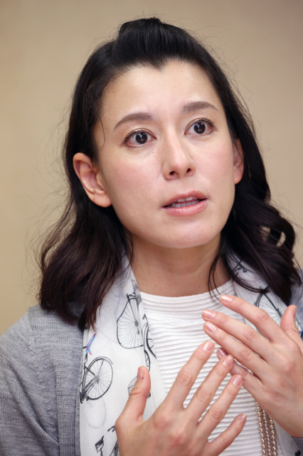 阪神大震災当時19歳だった瀬戸カトリーヌさん=早坂元興撮影