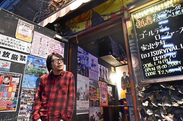 松原裕さん。ライブハウス「KOBE太陽と虎」を経営する=4日午後、神戸市中央区、水野義則撮影