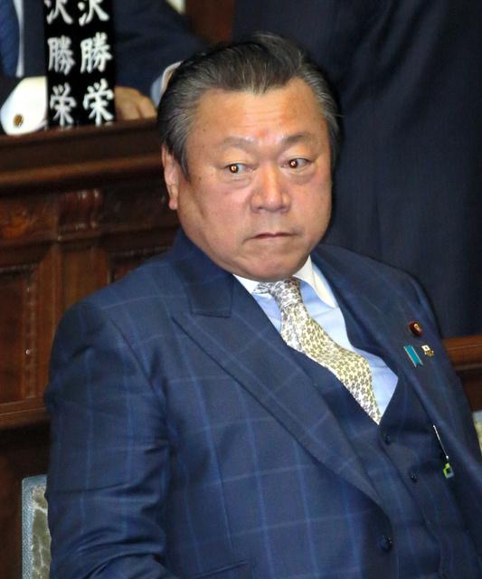 衆院本会議に臨む自民・桜田義孝氏=14日午後0時56分、飯塚晋一撮影
