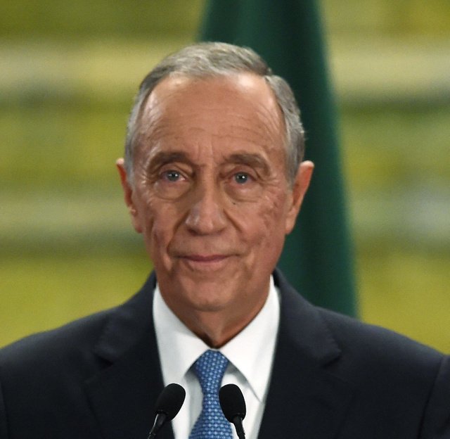 ポルトガル大統領選で勝利したマルセロ・レベロデソウザ氏=AFP時事