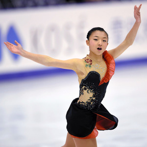 全日本選手権の女子SPで演技する坂本花織=白井伸洋撮影