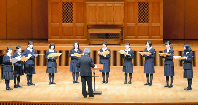 金賞を受賞し、全国大会に出場する湯沢・横手城南高=秋田市のアトリオン音楽ホール