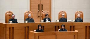 JR東海が損害賠償を求めた訴訟が開かれた最高裁第三小法廷=2日午後、東京都千代田区、諫山卓弥撮影