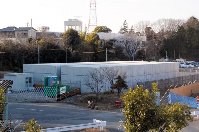 柏市北部クリーンセンターでは、コンクリート製の箱「ボックスカルバート」に指定廃棄物を入れて仮保管している
