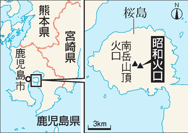 桜島の地図