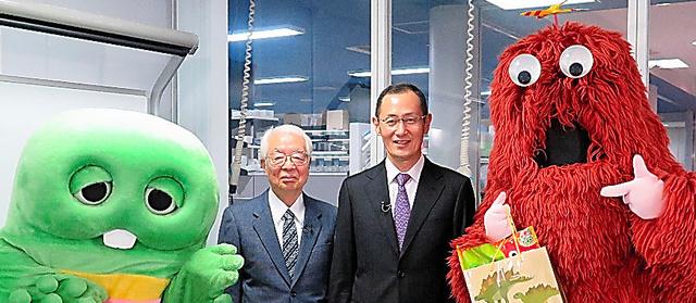 山中伸弥さん(右)と加地伸行さん