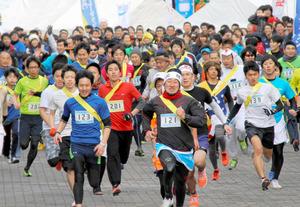 徳島)鳴教大キャンパス、611人駆ける