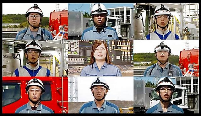 東京電力の新潟県内向けテレビCM「緊急時訓練編」=東電提供