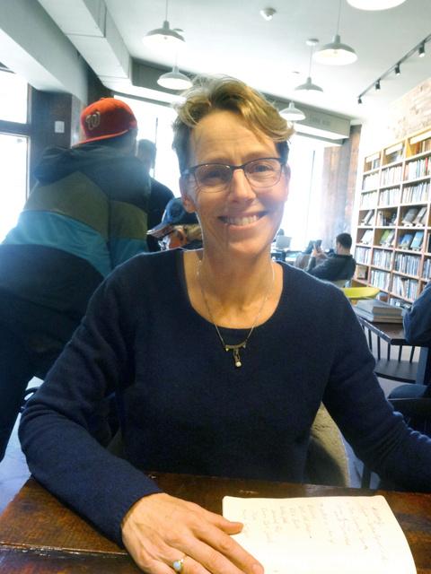 米メリーランド大教授のケイト・ブラウンさん=ワシントン、田井中雅人撮影