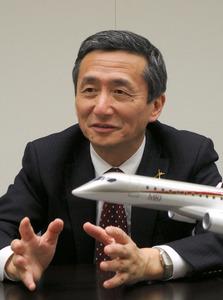 MRJ販売「中東や欧州にも」 三菱航空機・森本社長