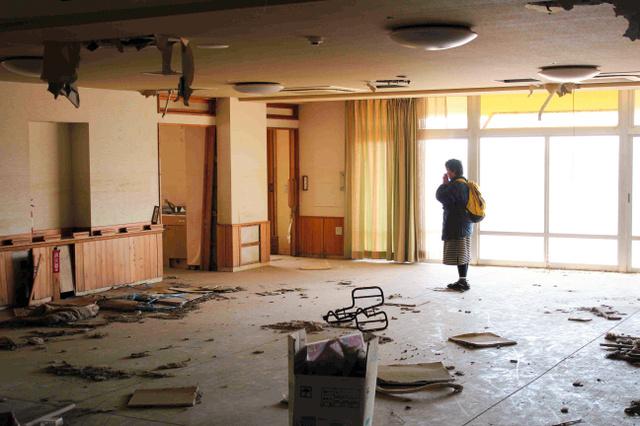 加藤明美さんの義母、久子さんはこの部屋の隅で見つかったという=名取市閖上