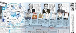 はじめての論壇<グラフィック・西森万希子>